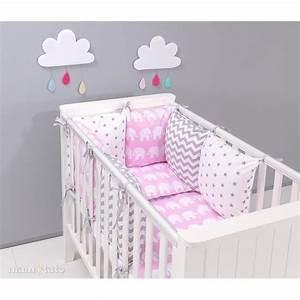 Tour De Lit Gris : stunning tour de lit bebe gris et rose ideas awesome interior home satellite ~ Teatrodelosmanantiales.com Idées de Décoration