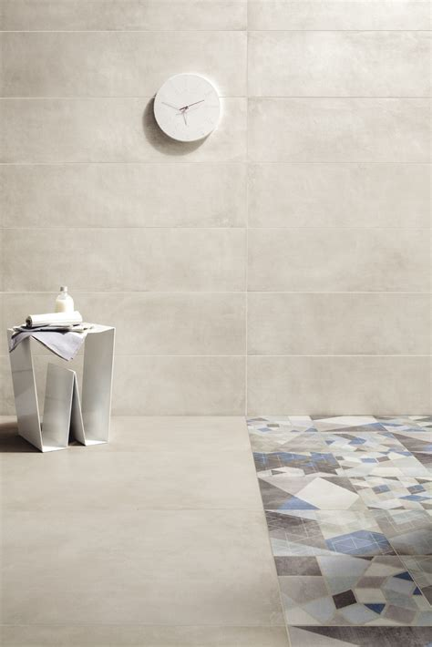 Porcelain stoneware wall/floor tiles with concrete effect