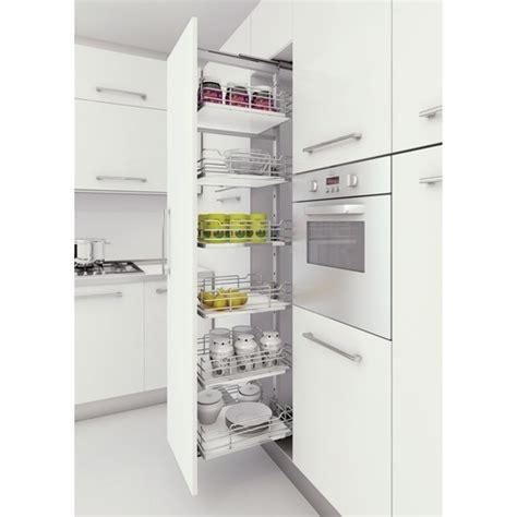colonne cuisine 50 cm largeur colonne complète de cuisine extractible charge 120 kg sige bricozor