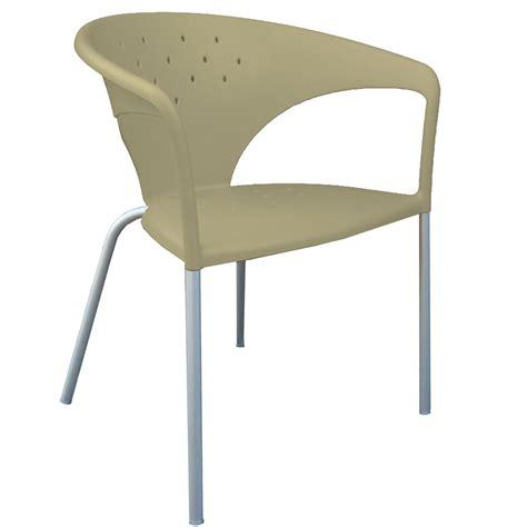 chaise terrasse chaise en aluminium design avec accoudoirs terrasse by