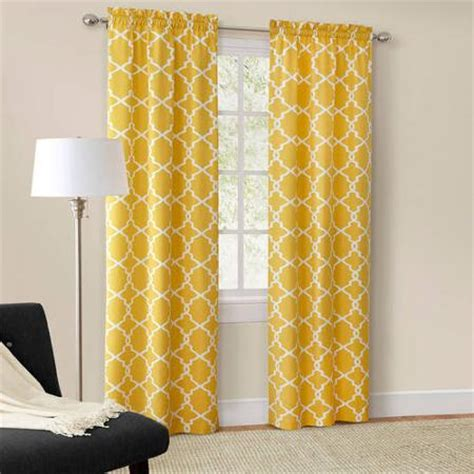 Yellow And White Curtains Walmart by Curtains Window Treatments Walmart