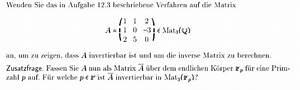 Inverse Berechnen Matrix : invertierbar zeigen dass a invertierbar ist und um die inverse matrix zu berechnen mathelounge ~ Themetempest.com Abrechnung