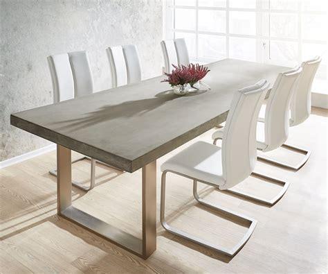 esstisch mit 6 stühlen esstisch zement 260x100 grau beton optik gestell schmal m 246 bel tische esstische