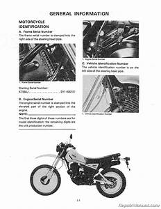 1982 Yamaha Xt550 Motorcycle Service Repair Maintenance