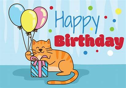 Birthday Animals Happy Vector Clipart Graphics Vectors