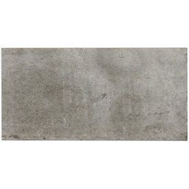 elida ceramica aged concrete grey glazed ceramic subway thinset mortar wall tile common 6 in x