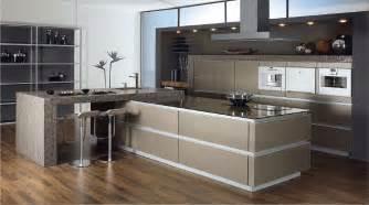 küche design küchenfronten aus edelstahl mehr der metallic look