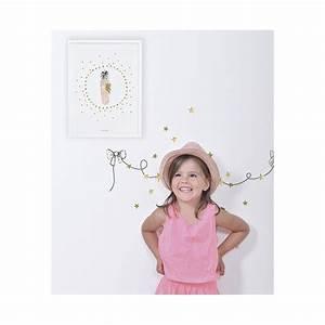 affiche chambre d39enfant plumes et etoiles lilipinso With affiche chambre bébé avec envoyer envoyer fleur