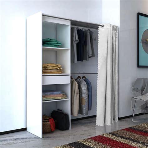 Kleiderschrank Mit Vorhang by Vidaxl Kleiderschrank Mit Vorhang Breitenverstellbar 121