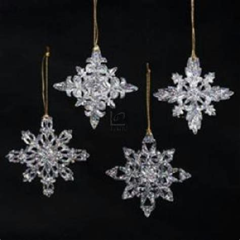 amazon com 3 5 quot acrylic snowflake ornament set of 4