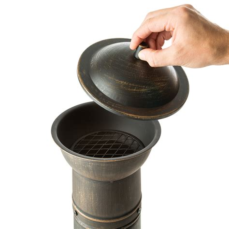 Chiminea Grill Rack by Large Cast Iron Chiminea Fireplace Garden Patio Heater