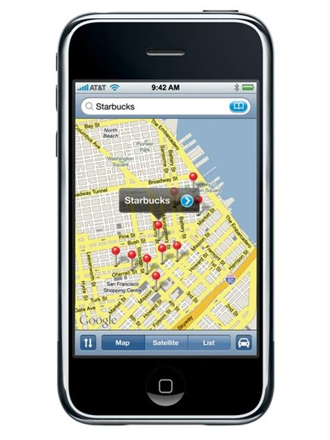maps app for iphone decision to include maps on the original 2007