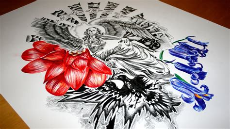 flower sleeve tattoos wallpaper