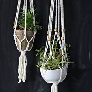 How to Make a Simple Macrame Plant Hanger eHow