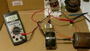 Small Induction Motor Conversion To Generator  Example