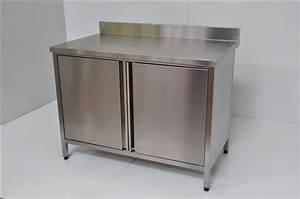 Meuble Avec Plan De Travail : meuble inox sur mesure ~ Dailycaller-alerts.com Idées de Décoration