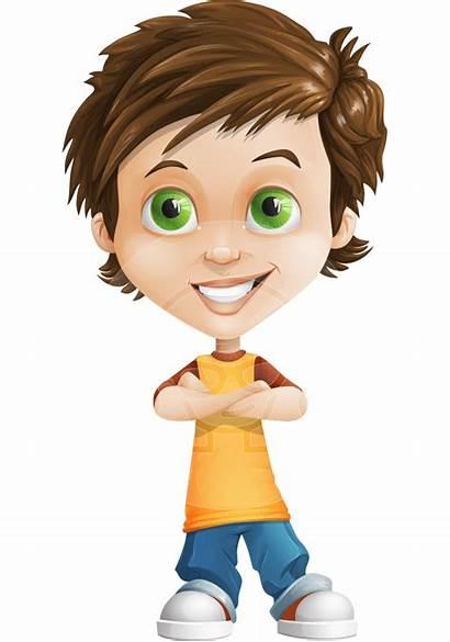 Boy Clipart Young Portrait Cartoon Character Transparent