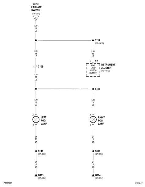 pt cruiser fog lightsfactorythere  wiring