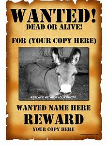 download wanted poster template 1 for free tidyform With wanted dead or alive poster template free