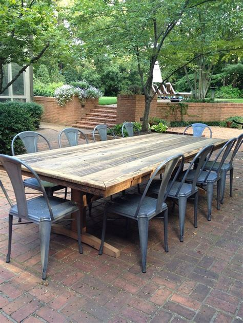 rustic outdoor dining table pin by kelly generation cedar on rustic shabby chic