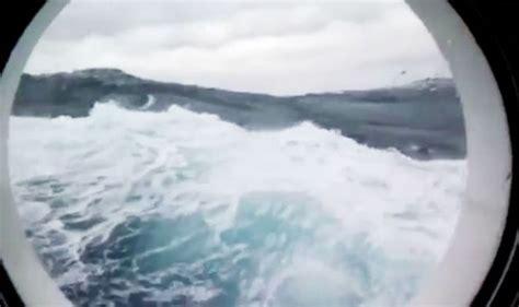 cruise ship slammed  monster waves  wild
