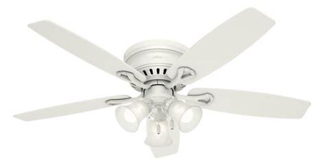 hunter oakhurst ceiling fan 52 quot white ceiling fan oakhurst 52018 hunter fan