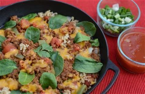 skillet mexican beef rice casserole recipe