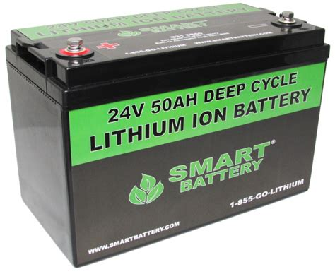 24v 50 Ah Lithium Ion Battery Cycle Lithium Ion Battery Smart Battery