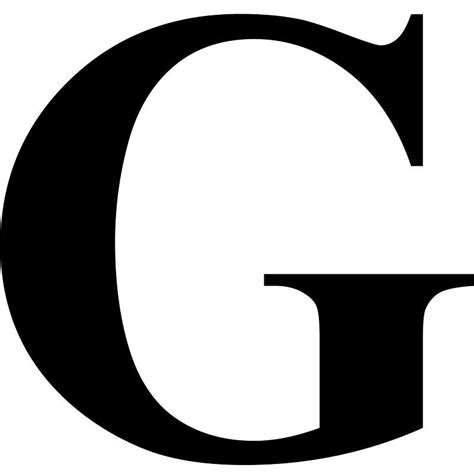 letter g the letter g in black times new serif font typeface initials monograms names