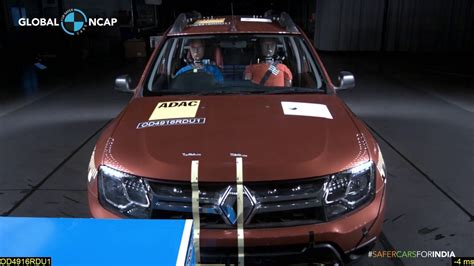 renault duster scores 0 in global ncap crash tests