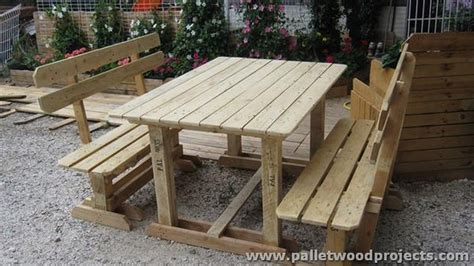 pallet picnic table  benches pallet wood projects