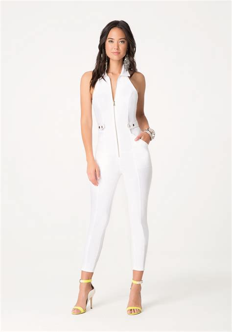 white denim jumpsuit white jean jumpsuit clothing