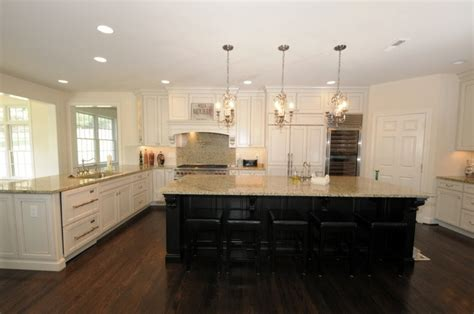 off white kitchen cabinets off white cabinets with dark island same as our kitchen