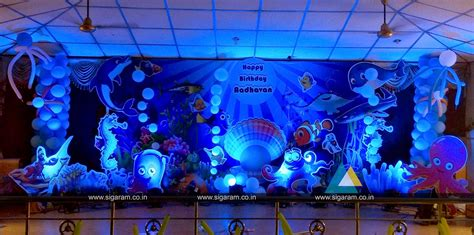 ocean themed birthday balloon decoration  vadalur