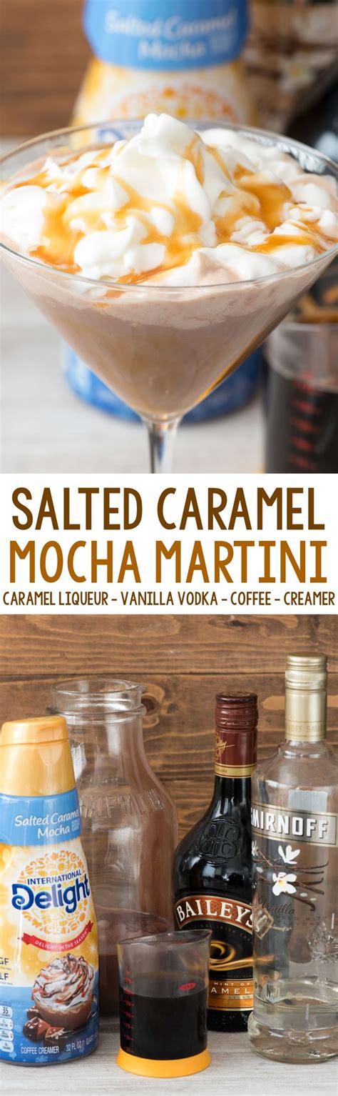 Salted Caramel Mocha Martini Recipe Cocktails Vodka