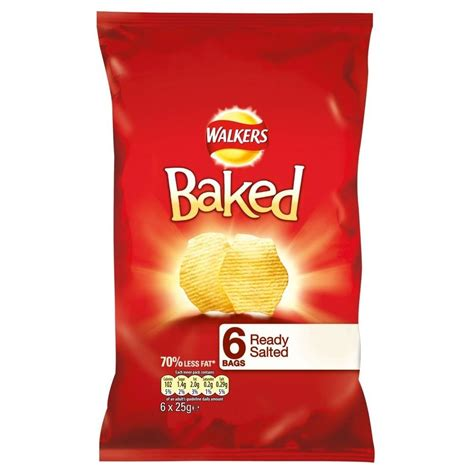 walkers crisps salted ready baked