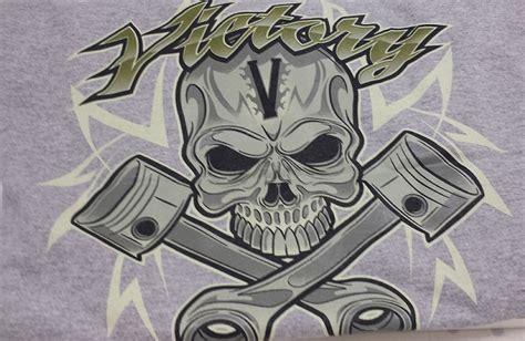 victory motorcycle  shirt victory skull piston grey