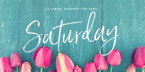saturday script font fontspring