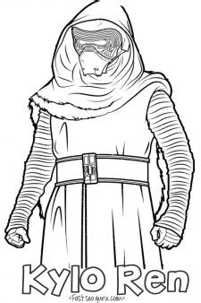 star wars  force awakens kylo ren coloring pages