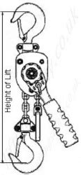 "Yale ""Handy"" Ratchet Lever Hoist. Lightweight Pressed"