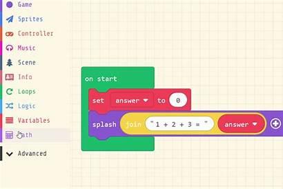 Math Operators Blocks Numbers Combine Additional Variables