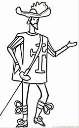 Pages Skinny Coloring Musketeer France British Clipart Soldier Colouring Thin Coloringpages101 Clip Template Library sketch template