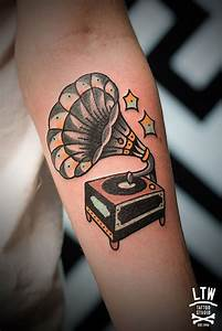 Gramophone by norteone done at LTW Tattoo Studio ...
