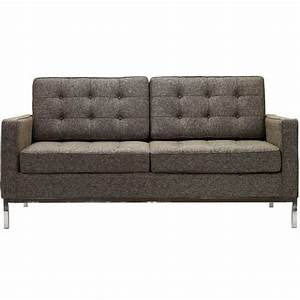 florence knoll two seat loft sofa sectional couch wool With couch florence sofa