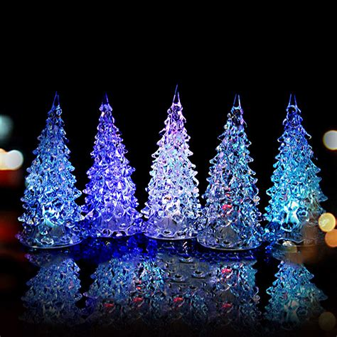new year mini color changing led tree