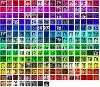Pantone Numbers Hexadecimal Hex Chart Colors Codes