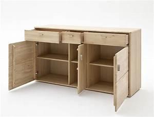 Sideboard Eiche Bianco : sideboard torrent 1 eiche bianco massiv 154x89x45 cm anrichte schrank wohnbereiche wohnzimmer ~ Buech-reservation.com Haus und Dekorationen