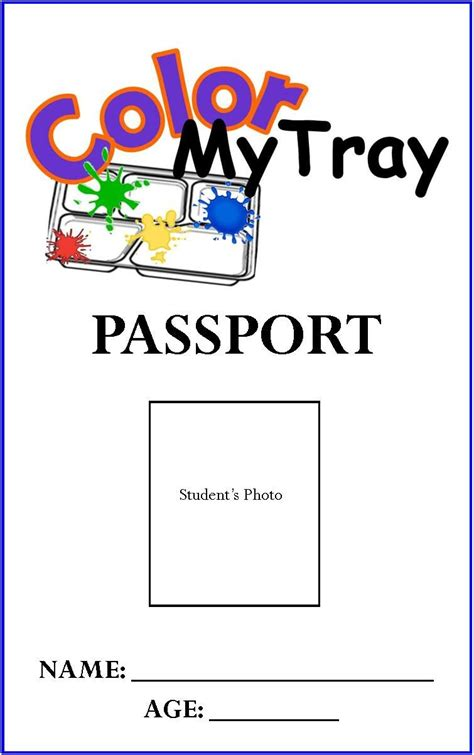 passport coloring page coloring for