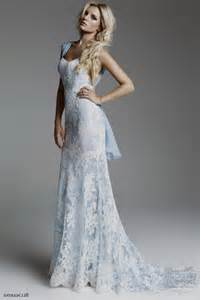 pale blue wedding dress pale blue lace wedding dress world dresses