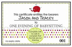 pin free babysitting coupon on pinterest With babysitting gift certificate template